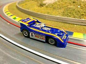 Aurora AFX Porsche 510k Can-Am RARE Dark Blue/Yellow #6 Sunoco 100% - HTF