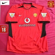 Original Manchester United Football Shirt SCHOLES #18 Vintage 2003 Nike Jersey
