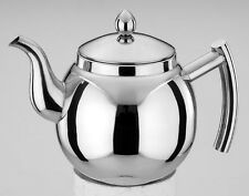35 oz.,1.05L STAINLESS STEEL TEA OR COFFEE POT, TEAPOT w/ REMOVABLE MESH FILTER