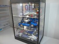 Large LED display case w 2 adjustable shelves for your car,plane models etc