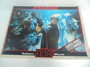 STAR WARS Return of the JEDI 150 PIECE JIGSAW PUZZLE 1983 Waddingtons No Print