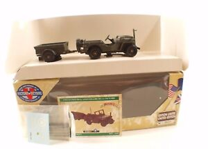 Solido 6105 Collection Victory Jeep US Ring Cable Trailer New IN Box 1/43