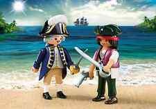 Playmobil Médiéval Duo Kit Réf 6846 NEUF, Marin et Pirate avec Accessoires