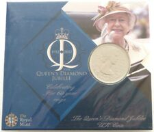 2012 Royal Mint British Queens Diamond Jubilee BU £5 Five Pound Coin Pack Sealed