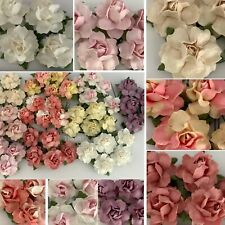 """1"""" or 2.5 cm Mixed Small DIY Rose Paper Flower Wedding Craft Scrapbook R19/A-1"""