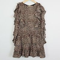 Size 10 BARDOT Junior Girls Rara Ruffle Animal Print Dress