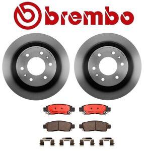 For Oldsmobile Bravada 02-04 2 Rear Brake KIT Rotors & Pads Original Brembo