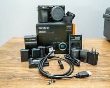 BUNDLE Sony Alpha a6500 24.2MP Digital Camera 5 BATTARIES CHARGER Body Only