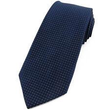 CRAVATE pour homme 8 cm Bleu marine satin et Lurex - Navy blue Necktie cravatte