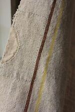 Antique linen hemp Tablecloth 41X123 Bedcover cart cover bed spread homespun