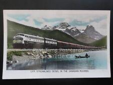 Canada: CPR Streamlined Deisel in Rockies c1940's RP by Gowen Sutton Co