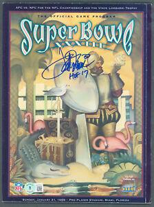 """Broncos Terrell Davis """"HOF 17"""" Signed SB XXXIIi Program BAS Witnessed #WK36001"""