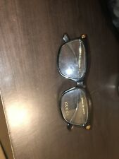 GUCCI Men's Frame Glasses Rectangular Brown And Gold