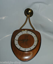 50er 60er Diehl Uhr Wanduhr Nierenform Batterie Quartzwerk clock 70s