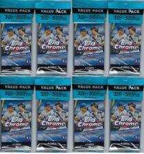 (8) 2020 Topps CHROME Baseball MLB Trading Cards New, Full, 17ct. VALUE PACK LOT
