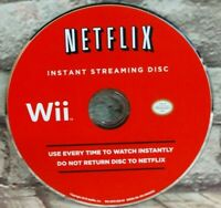 Netflix Instant Streaming Disc (Nintendo Wii) Disc Only Tested Free Shipping