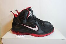 NIKE AIR ZOOM MAX LEBRON 9 IX BRED BLACK RED MIAMI HEAT HOME AWAY DS SIZE 9