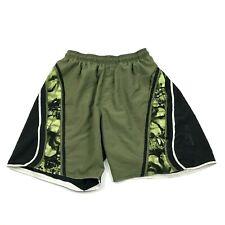 VINTAGE SPEEDO Green Swim Trunks Size M Medium Mesh Lined Swimsuit Zip Pocket