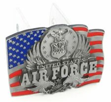 U.S. Air Force Metal Hitch Cover (Flag with Insignia and Eagles)