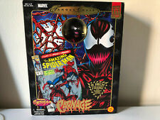 """Marvel Famous Covers CARNAGE 8"""" Figure 2001 ToyBiz Previews Exclusive Spider-Man"""
