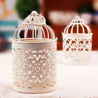 Metal Bird Cage Hollow Candle Holder Tealight Candlestick Hanging Lantern Decor