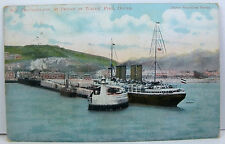 POSTCARD: SS Deutschland at Prince of Wales Pier, Dover; French Postmark 1907