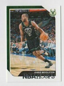 (12) Khris Middleton 2018-19 PANINI NBA HOOPS CARD LOT #14 MILWAUKEE BUCKS