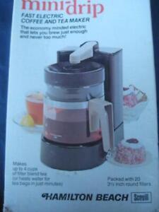 Vintage Hamilton Beach Scovill Mini-Drip 784 Coffee & Tea Maker USA in Box FILTR