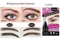 Eyebrow Hair Extensions/ Fiber Building Unisex Waterproof 3D  Black, Dark Brown