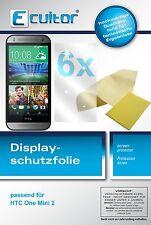 6x Ecultor HTC One mini 2 Pellicola Prottetiva Transparente Proteggi Schermo