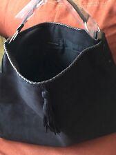 VICTORIA'S SECRET EXTRA LARGE TOTE FAUX SUEDE / LEATHER BLACK BAG, HANDBAG NEW!