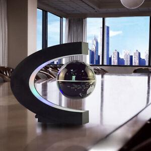 Magnetic Levitation Floating Earth Globe Map With C Shape Base LED Light UK