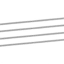 3 Metres Silver Plated Fine Curb Chain Soldered Link Size 1.5mm X 1mm J81234a