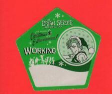 Brian Setzer Orchestra 6th Christmas Extravaganza Cloth Working Pass UNUSED!