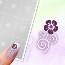 Aerógrafo+Nail Art Plantilla FS011 Ornamento Floral Flores Hojas 40x Adhesivo