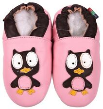 shoeszoo owl pink 18-24m S soft sole leather baby shoes