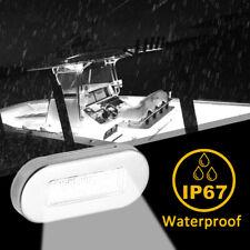 4pcs Boat Marine Grade 12 Volt Large Waterproof Warm White LED Courtesy Lights
