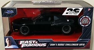 Jada Fast & Furious Dom's Dodge Challenger SRT8 Black 1/32 die cast Car