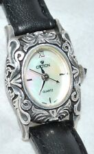 Croton Sterling Silver Women's Watch Decorative Case Mother-of-Pearl Dial