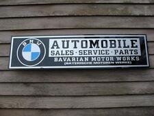 PRE-1964 BMW AUTOMOBILE DEALER/SERVICE SIGN/AD 1'X4' W/EARLIER RONDELL LOGO
