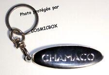 Porte clés métal CHAMACO noir & chrome lourd robuste