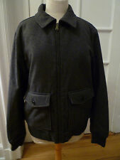 NWT: Men's GAP Gray Wool Bomber Jacket w/ Quilted Lining, Size Large