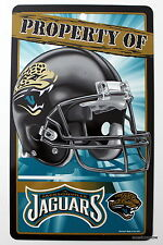 NFL Jacksonville Jaguars Property Sign Plastic Decor Football League Fan cave