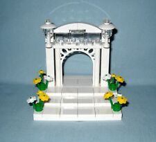 NEW LEGO WEDDING ARCH, YELLOW & WHITE FLOWERS FOR BRIDE AND GROOM MINIFIGURES