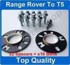 10mm HUBCENTRIC Spacer Kit di Montaggio + BULLONI per adattarsi RANGE ROVER RUOTE per VW T5