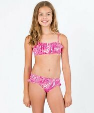 Billabong Carnival Bandeaou Magenta Girls Size 10 Bikini Set