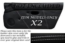 Bordado blanco Jdm encaja Mazda Mx5 Mk1 Miata 89-97 2x Puerta Tarjeta cubre sólo