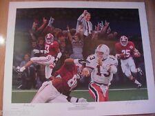 1992 Alabama Crimson Tide Crimson Nat'l Champs Print-Stallings/Eric Curry/Lassic