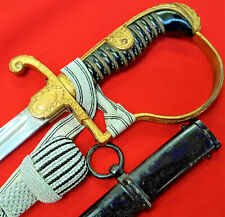 RARE WW2 GERMAN ARMY OFFICER'S SWORD, SCABBARD & KNOT BY CARL EICKHORN