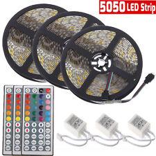 Led Strip Lighting 3*5M 49.2 Ft 5050 RGB 300LEDs Flexible Color Changing Lights